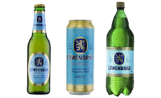 Löwenbräu beer, pack shots